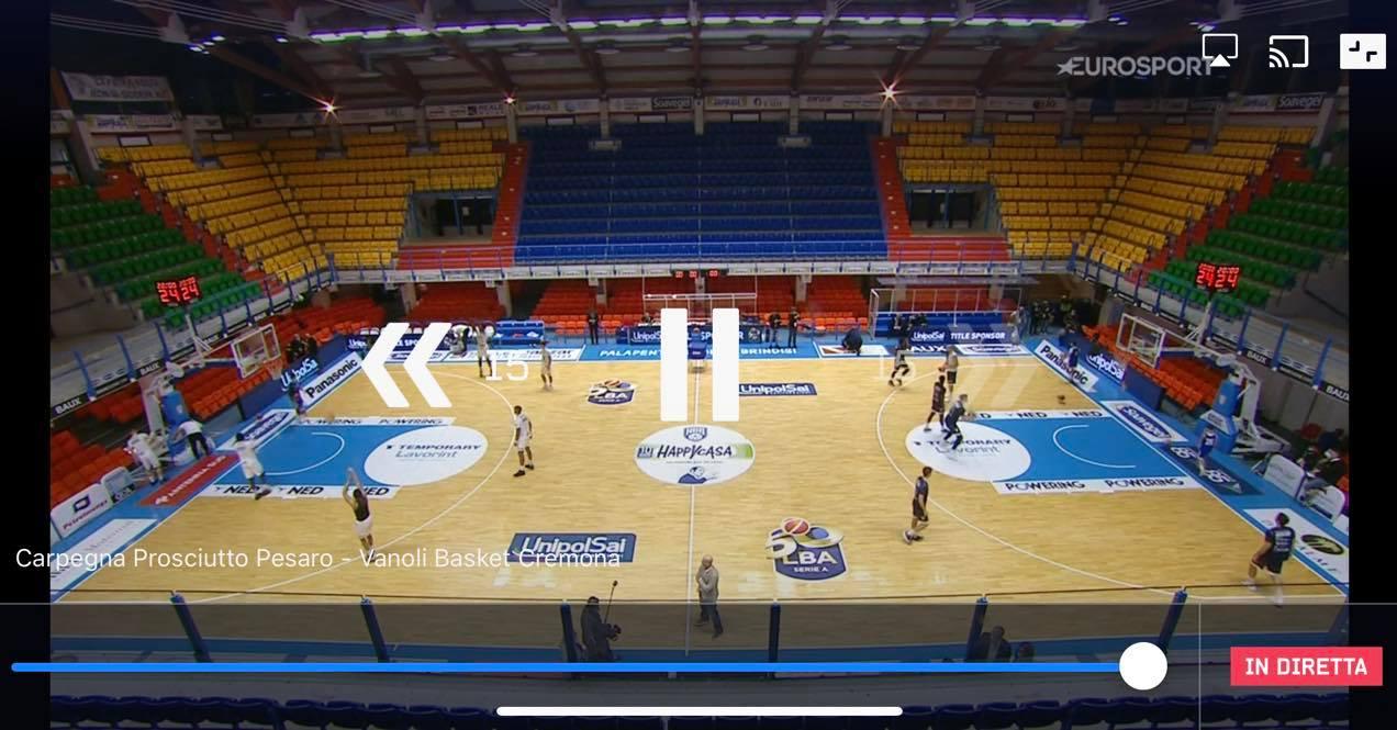 Su Eurosport Salta La Diretta Dellovertime Di Pesaro Cremona E Parte La Diretta Da Brindisi