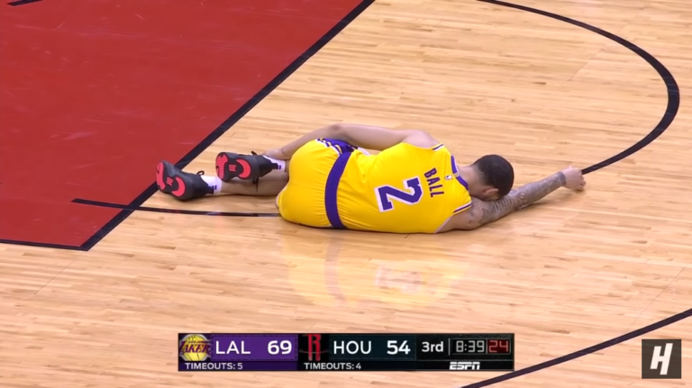 00a2470419b Lakers asked Lonzo Ball if his Big Baller Brand shoes caused his ankle  injuries