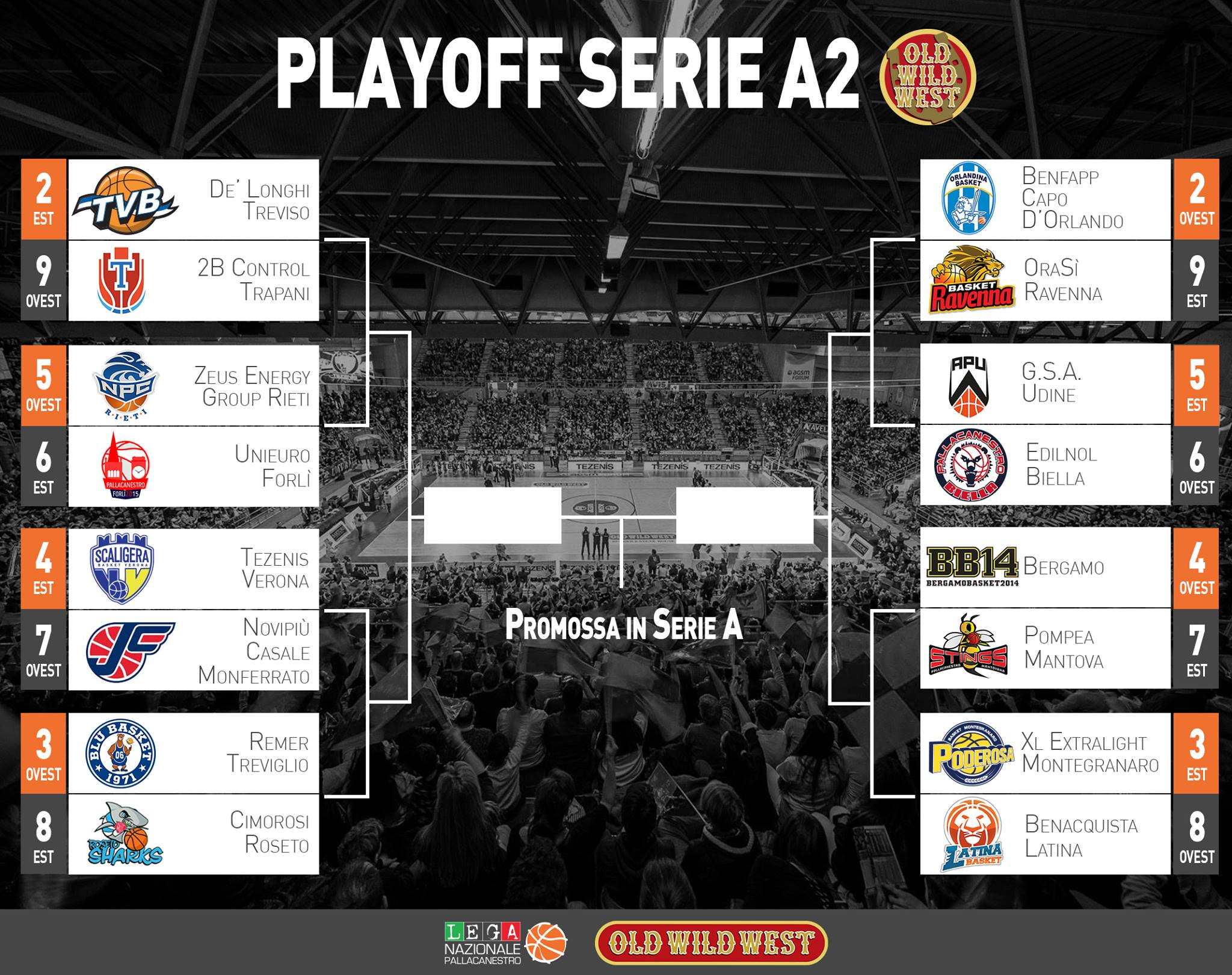 Calendario Play Off Basket A2.Serie A2 Old Wild West Il Programma Dei Playoff