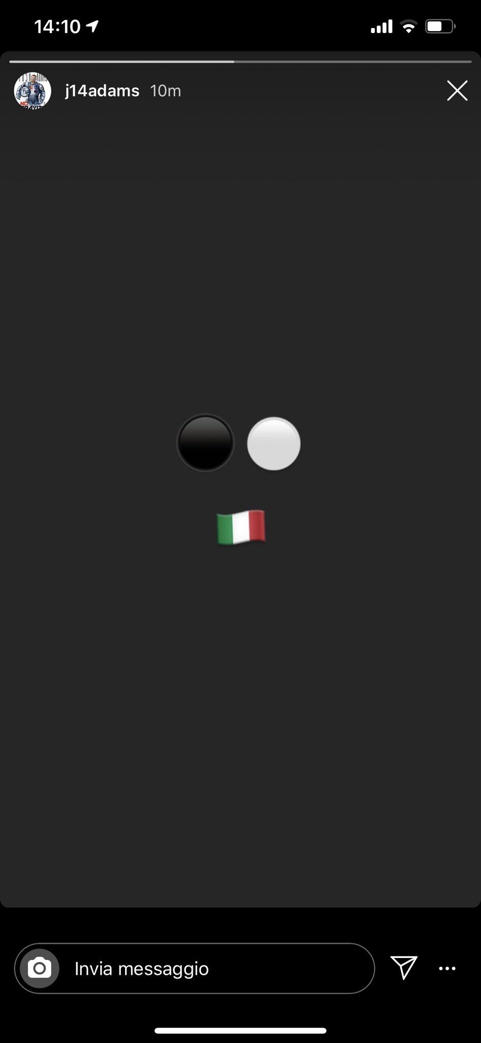 Josh Adams si annuncia alla Virtus Bologna su Instagram