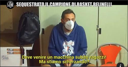 Marco Belinelli protagonista di un finto sequestro a Le Iene – [Video]