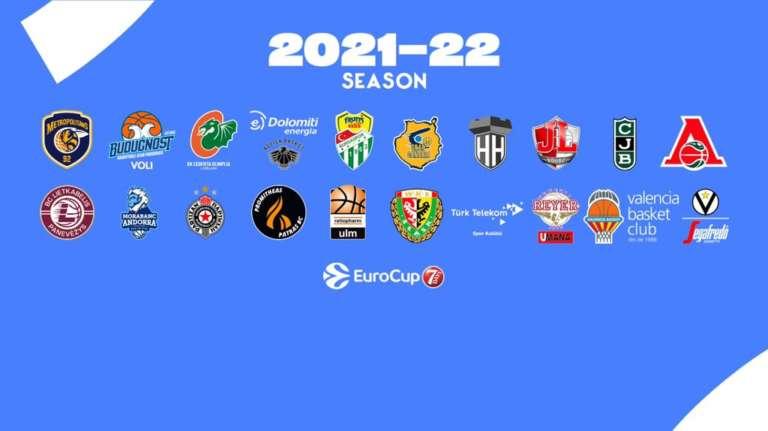 7DAYS EuroCup, ecco le squadre 2021-22: per l'Italia Virtus Bologna, Venezia e Trento